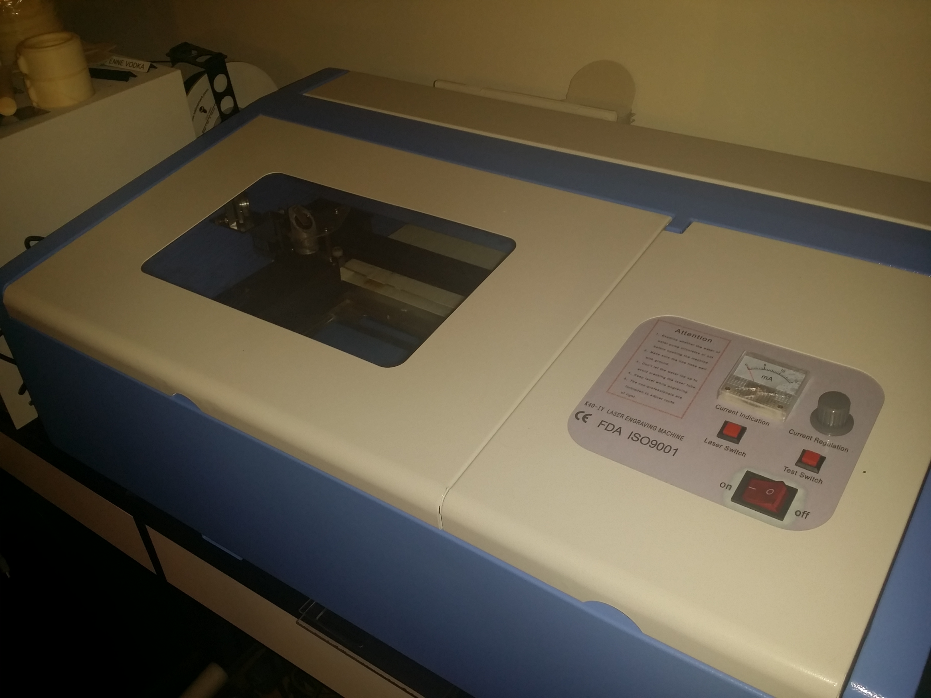 Setup And Maintenance Of A 40w Laser Cutter From Ebay Richard Wiring Cnc Diagram Controller 4060z
